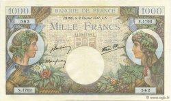 1000 Francs COMMERCE ET INDUSTRIE FRANCE  1941 F.39.04 SUP+
