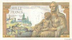 1000 Francs DÉESSE DÉMÉTER FRANCE  1942 F.40.02 SPL