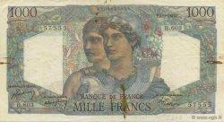 1000 Francs MINERVE ET HERCULE FRANCE  1949 F.41.29 TB+