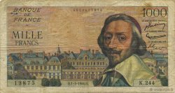 1000 Francs RICHELIEU FRANCE  1956 F.42.19 TB