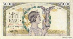 5000 Francs VICTOIRE Impression à plat FRANCE  1941 F.46.28 TTB+