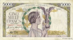 5000 Francs VICTOIRE Impression à plat FRANCE  1941 F.46.31 TB