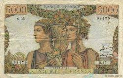 5000 Francs TERRE ET MER FRANCE  1949 F.48.02 TB+
