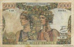 5000 Francs TERRE ET MER FRANCE  1951 F.48.05 pr.TB