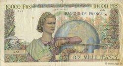 10000 Francs GÉNIE FRANÇAIS FRANCE  1946 F.50.03 B à TB