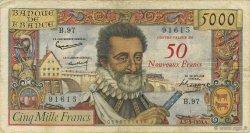 50 NF sur 5000 Francs HENRI IV FRANCE  1959 F.54.02 TB+