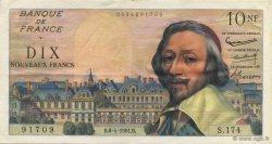 10 Nouveaux Francs RICHELIEU FRANCE  1961 F.57.15 SUP+