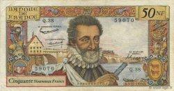 50 Nouveaux Francs HENRI IV FRANCE  1959 F.58.04 TB+