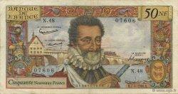 50 Nouveaux Francs HENRI IV FRANCE  1960 F.58.05 TB+