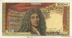 500 Nouveaux Francs MOLIÈRE FRANCE  1960 F.60.02 TTB