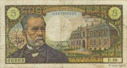5 Francs PASTEUR FRANCE  1966 F.61.03 B+
