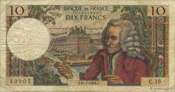 10 Francs VOLTAIRE FRANCE  1963 F.62.03 pr.TB