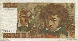 10 Francs BERLIOZ FRANCE  1974 F.63.06 TB+