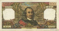 100 Francs CORNEILLE FRANCE  1964 F.65.01 TB+