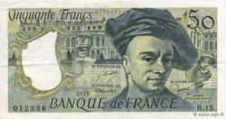 50 Francs QUENTIN DE LA TOUR FRANCE  1979 F.67.04 pr.SUP