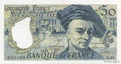 50 Francs QUENTIN DE LA TOUR FRANCE  1990 F.67.16 SUP+