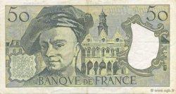 50 Francs QUENTIN DE LA TOUR FRANCE  1991 F.67.17 SUP