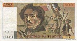 100 Francs DELACROIX modifié FRANCE  1978 F.69.01e TTB+