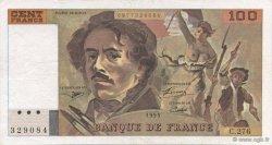 100 Francs DELACROIX 442-1 & 442-2 FRANCE  1995 F.69ter.02b SUP