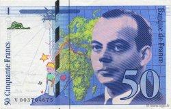 50 Francs SAINT-EXUPÉRY FRANCE  1992 F.72.01b SPL