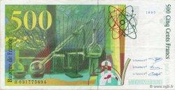 500 Francs PIERRE ET MARIE CURIE FRANCE  1995 F.76.02 SUP