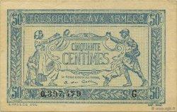 50 Centimes TRÉSORERIE AUX ARMÉES FRANCE  1917 VF.01.07 SPL