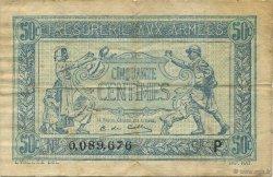 50 Centimes TRÉSORERIE AUX ARMÉES FRANCE  1917 VF.01.16 TB à TTB