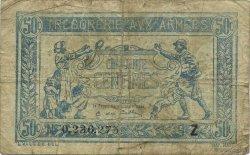 50 Centimes TRÉSORERIE AUX ARMÉES FRANCE  1919 VF.02.09 B+