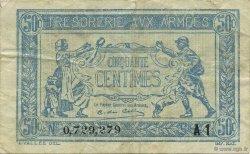 50 Centimes TRÉSORERIE AUX ARMÉES FRANCE  1919 VF.02.10 TTB
