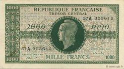 1000 Francs chiffres gras FRANCE  1945 VF.12.01 TTB+