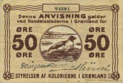 50 Ore GROENLAND  1913 P.12 TTB
