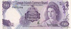 40 Dollars ÎLES CAIMANS  1981 P.09a NEUF
