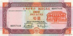 10 Patacas MACAO  2001 P.076a NEUF