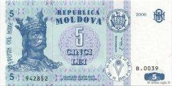 5 Lei MOLDAVIE  2006 P.09d NEUF
