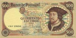 500 Escudos PORTUGAL  1966 P.170a NEUF