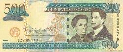 500 Pesos Oro RÉPUBLIQUE DOMINICAINE  2006 P.172var NEUF