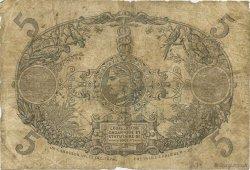 5 Francs Cabasson rouge ÎLE DE LA RÉUNION  1938 P.14 B