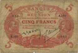 5 Francs Cabasson rouge ÎLE DE LA RÉUNION  1944 P.14 B