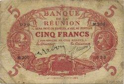 5 Francs Cabasson rouge ÎLE DE LA RÉUNION  1944 P.14 TB