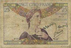 25 Francs ÎLE DE LA RÉUNION  1944 K.412d B+
