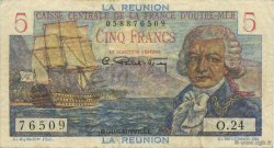 5 Francs Bougainville ÎLE DE LA RÉUNION  1946 P.41a TTB