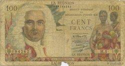 100 Francs La Boudonnais ÎLE DE LA RÉUNION  1960 P.49a AB
