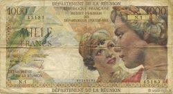 1000 Francs Union Française ÎLE DE LA RÉUNION  1964 P.52a TB+