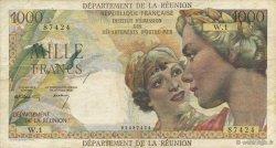 1000 Francs Union française ÎLE DE LA RÉUNION  1964 K.443 TTB