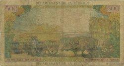 10 NF sur 500 Francs Pointe à pitre ÎLE DE LA RÉUNION  1971 K.445a pr.B
