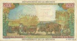10 NF sur 500 Francs Pointe à pitre ÎLE DE LA RÉUNION  1971 P.54b TTB