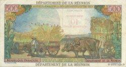 10 NF sur 500 Francs Pointe à pitre ÎLE DE LA RÉUNION  1971 P.54b TTB+
