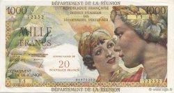 20 NF sur 1000 Francs Union Française ÎLE DE LA RÉUNION  1967 P.55a SPL