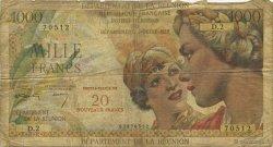 20 NF sur 1000 Francs Union française ÎLE DE LA RÉUNION  1967 K.446a AB