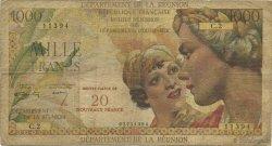 20 NF sur 1000 Francs Union française ÎLE DE LA RÉUNION  1967 K.446a B
